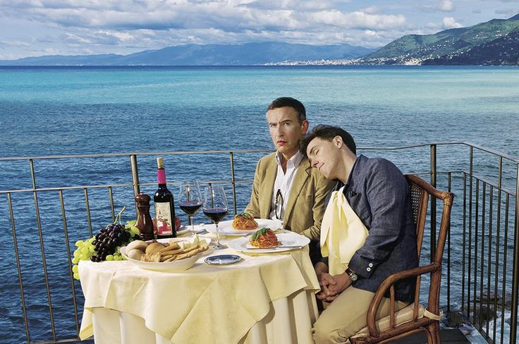Steve Coogan, left, and Rob Brydon in Camogli, Italy. Photograph: Sarah Lee for Observer Food Monthly