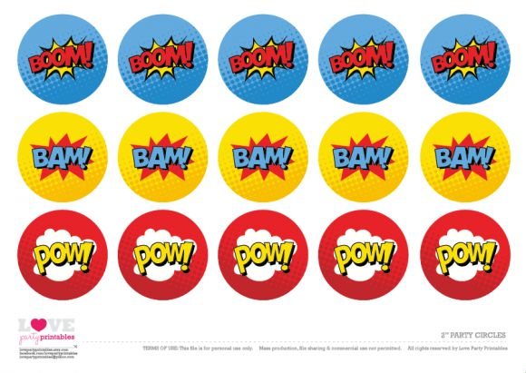 Free Superhero Party Printables   Cupcake Toppers | CatchMyParty.com                                                                                                                                                                                 More