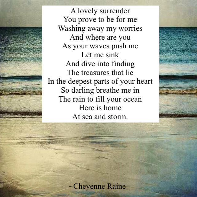 Ocean love poem poetry awe water waves