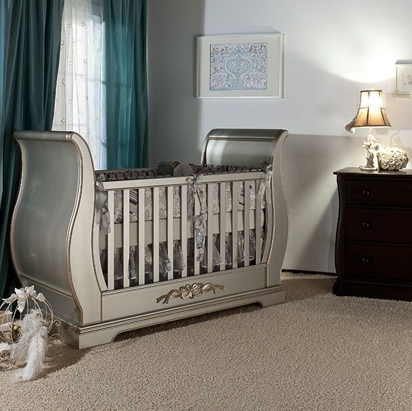 solid wood nursery furniture. Romina Venice Classic Sleigh Crib Solid Wood Nursery Furniture E