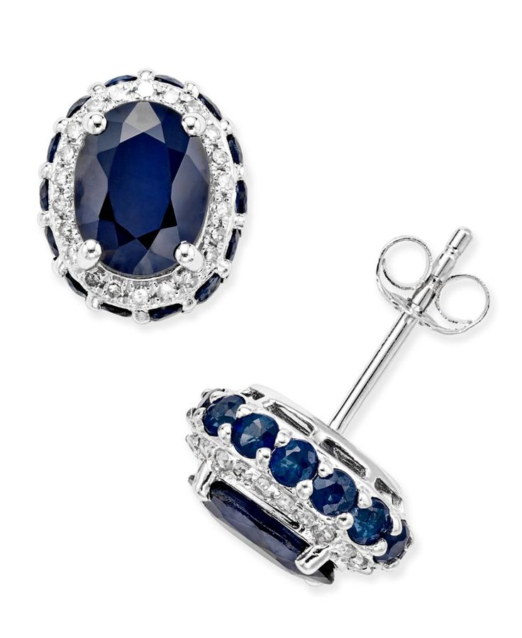 Blue Sapphire 3 7 8 Ct T W And White Sapphire 1 5 Ct