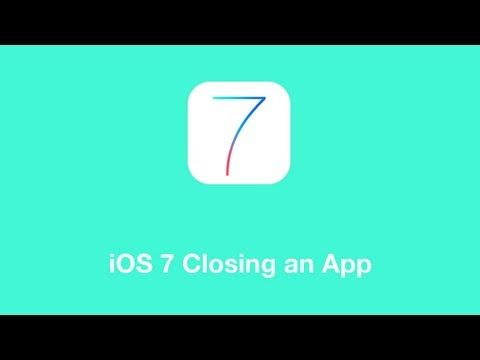 Closing running apps is important for troubleshooting & saving battery. iOS 7 provides a much better preview of the open apps, and then it's easy to swipe them up & away!
