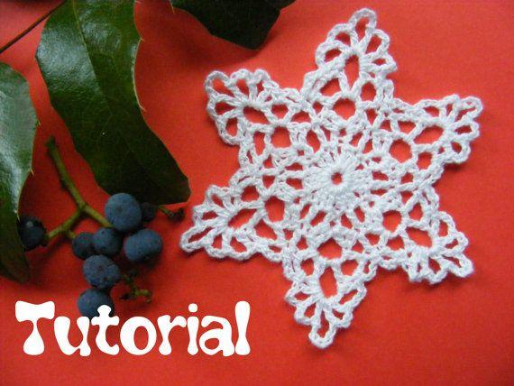 Christmas Crochet Star Tutorial  PDF file by Crochettthings