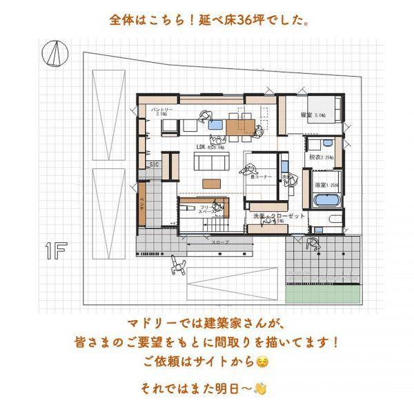 将来は平屋にも 主寝室が1階でぐるぐる動線間取り Folk 2ページ 間取り 家の間取り 南玄関 間取り