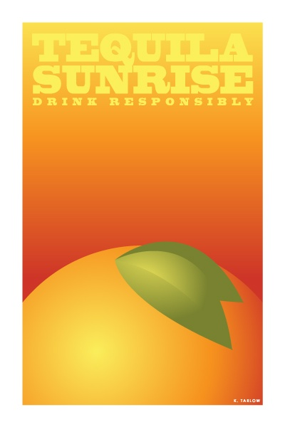 Tequila Sunrise: Cocktail Posters (http://artofdrink.tumblr.com/)