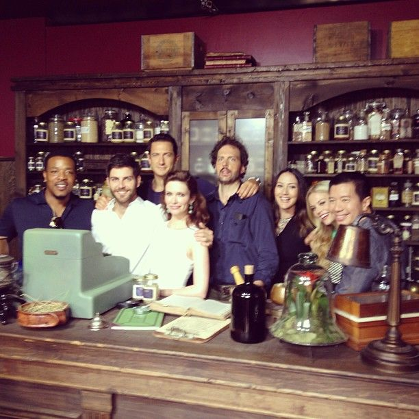 The whole Grimm gang in the Spice Shop