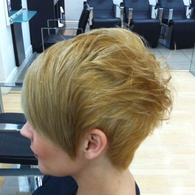 Love this hair cut I did at Christmas with the limited edition glitter spray