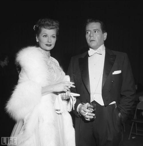 Lucille Ball and her h...