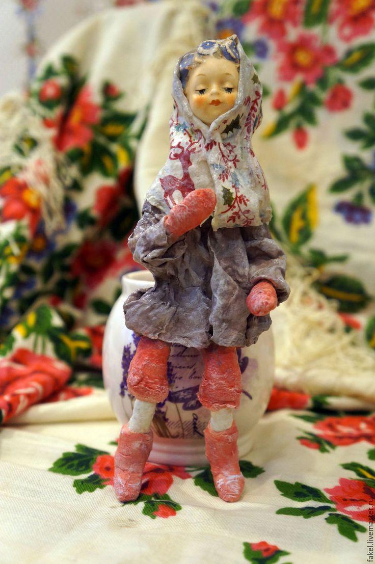 Купить Душечка, ватная игрушка - сиреневый, ватная игрушка, ватная елочная игрушка, пасхальный сувенир