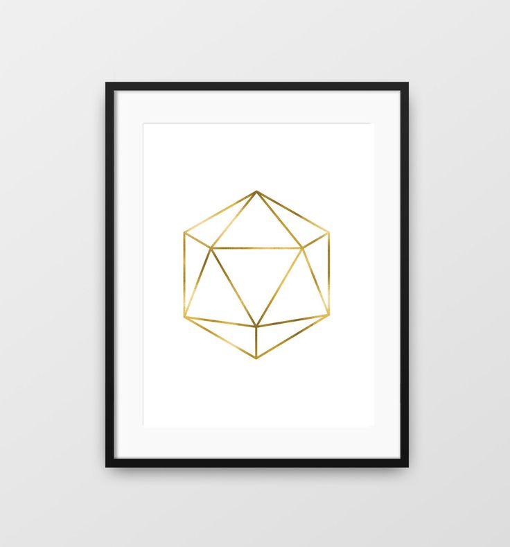 Imprimer des caractères géométriques icosaèdre sticker