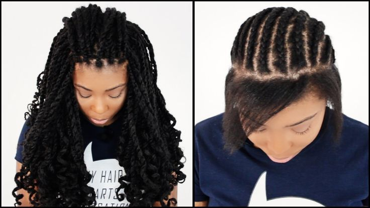 5 Minute Hairstyles Braids: Kinky Twists Crochet START TO FINISH In 7 Minutes