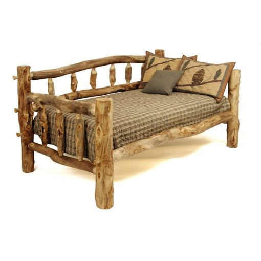 Colorado Aspen Rustic Furniture   Log Day Bed