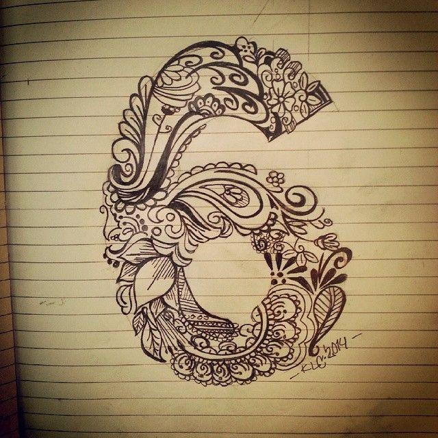 #numbers #6 #instaartwork #freehand #freeyourmind #pencil #tattooidee #artwork #art #instasketching #fun #PaintTheWorld #pattern #henna #flowers #patrickjakobsson www.villha.se #klc