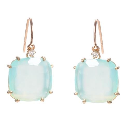 Love the palest sea blue tint to these earrings. Suzanne Kalan Chalcedony Earrings with White Sapphire