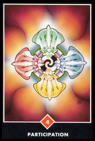 Osho Zen Tarot Four 4 of Wands