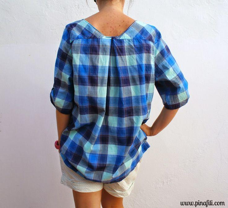 Recycle a man  shirt