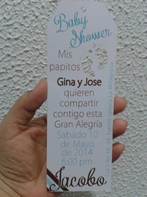 Tarjeta invitacion baby shower