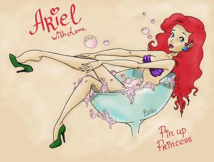 justanotherdisneytumblr:      Ariel. Pin up Princessby~BzikO