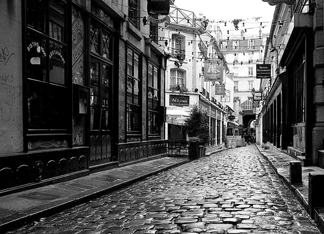 Street paris black white