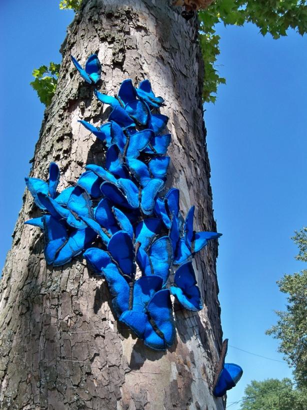 Felt Butterfly Street Art