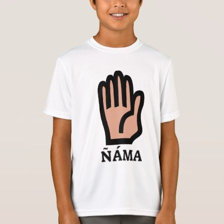 Text in Pijao: ñáma and a hand T-Shirt - tap to personalize and get yours