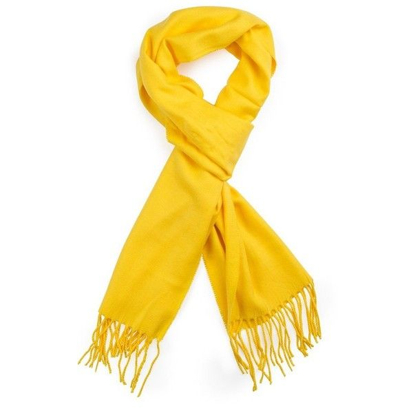 Plum Feathers Super Soft Luxurious Cashmere Feel Winter Scarf (Yellow)... ($13) ❤ liked on Polyvore featuring accessories, scarves, feather shawl, yellow shawl, cashmere shawl, yellow scarves and cashmere scarves