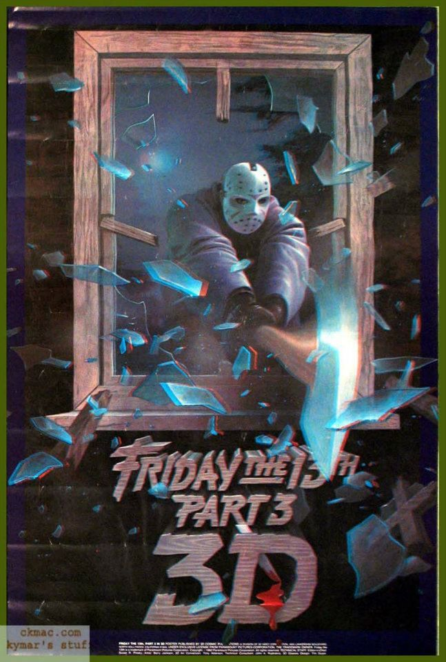 """Friday The 13 th - Part 3 (3D in VHS) (""""Sexta Feira 13 - Parte 3"""" in Brasil)"""