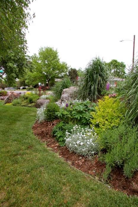 161 best images about landscaping on pinterest for Berm garden designs