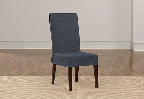 Sure Fit Slipcovers Textured Linen Short Dining Chair Cover - Dining Room Chair