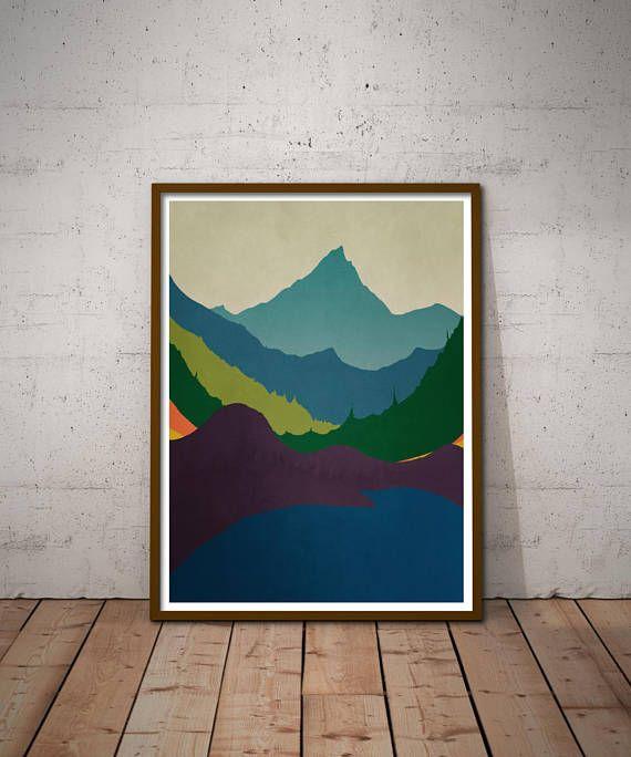 Lion Mountain Landscape Giant Wall Art Poster Print
