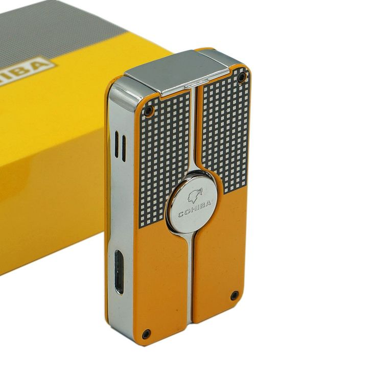 COHIBA Classic 3 TORCH JET FLAME CIGAR CIGARETTE Metal LIGHTER With PUNCH  #windproof