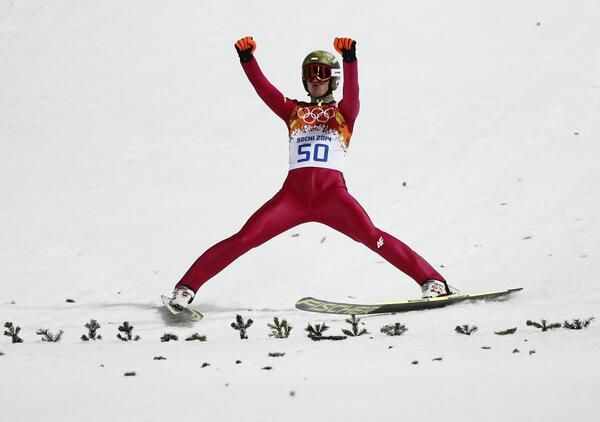 Polands Kamil Stoch.            Gold