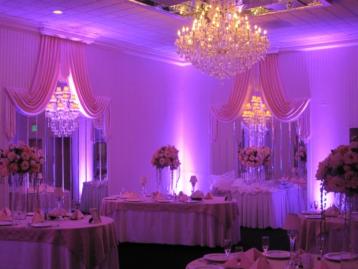 32 best celebrations wedding facility images on pinterest marriage hot pink uplights to the ballroom in celebrations make it enchanting junglespirit Images