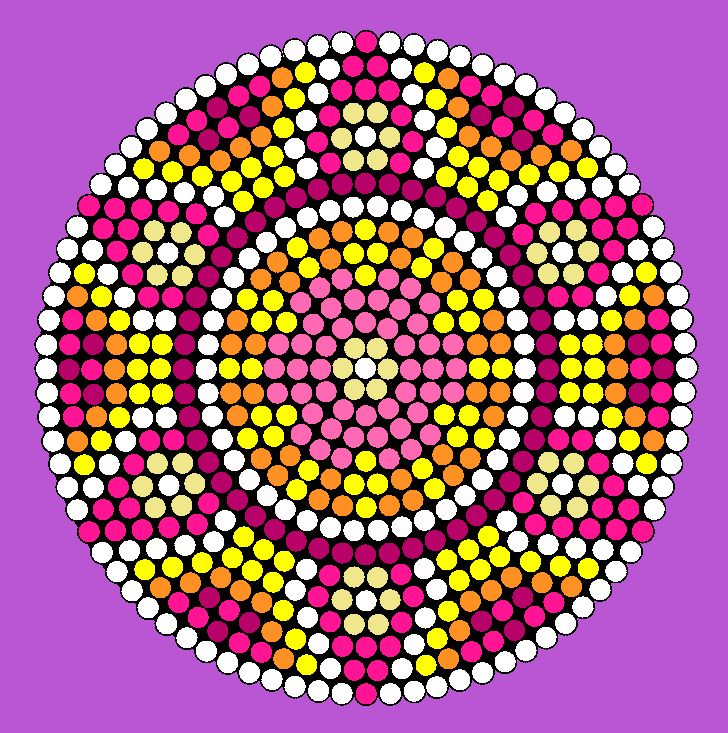Colorful Flower Wheel Perler Bead Pattern / Bead Sprite