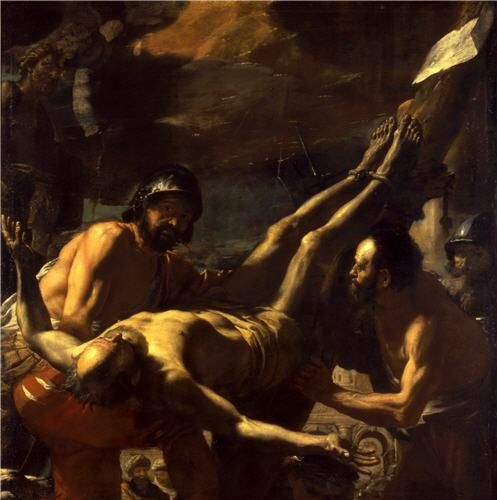 The Martyrdom of Saint Peter Naples, the late 1650s Oil on canvas 194.5 x 194.3…