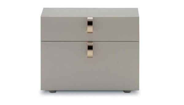 """""""Splendor"""" Side Table by Flou. Design by Rodolfo Dordoni. Cream lacquer finish…"""