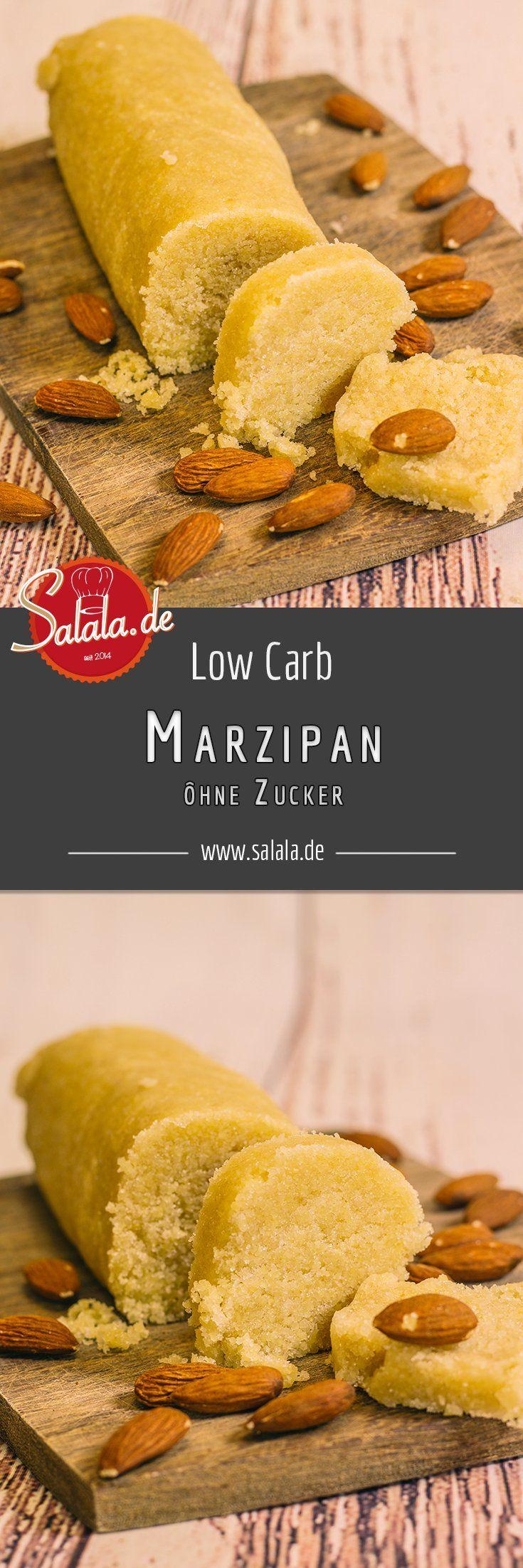 Low Carb Marzipan einfach selber machen - by salala.de - Marzipan ohne Zucker Low Carb glutenfrei zuckerfrei DIY