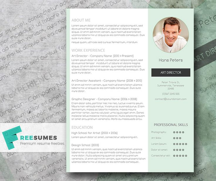 79 best Free Resume Templates For Word images on Pinterest Free - resume template with picture insert