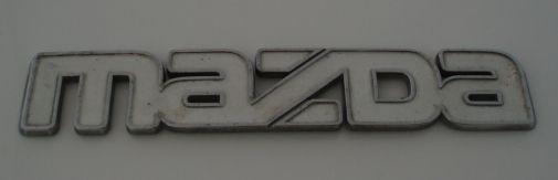 Mazda car badge