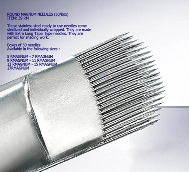 Resultado de imagen para sizes of tattoo needles and uses