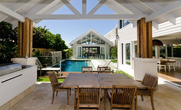 Alfresco dining/Outdoor kitchen Eco Outdoor - Project of the Month - May 2012 - Beach House Beauty