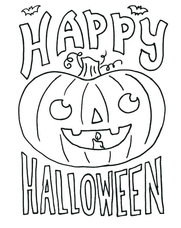 October Coloring Pages   Halloween coloring pictures ...