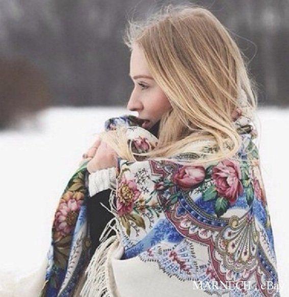 "HUGE Russian Pavlovo Posad Shawl 146cm/57"",PURE NATURAL WOOL Luxury scarf wrap #PavlovoPosad #ShawlWrap"