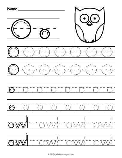 Free Printable Tracing Letter O Worksheet Writing Letter o