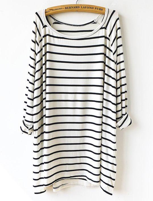 Slouchy striped t-shirt dress