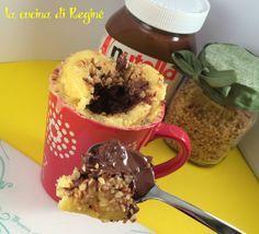 #Mug cake con cuore morbido alla nutella# La cucina di Reginé.
