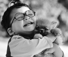 baby & puppy = What! So cute!