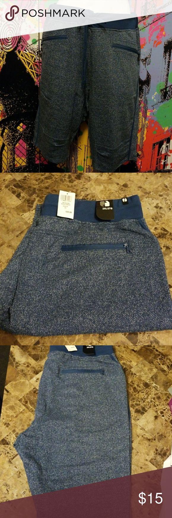 Berlin Jogger Blue jogger with zipper pockets Shorts Hybrids