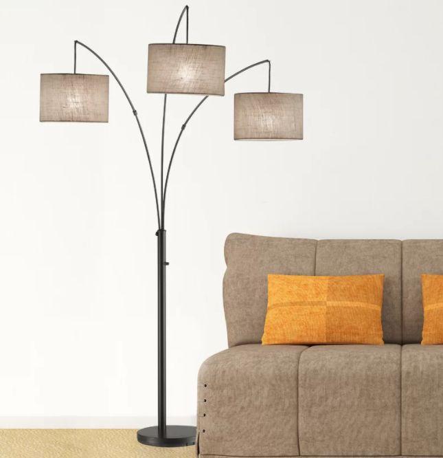Utecht 74″ tree floor lamp base mid century modern floor lamps