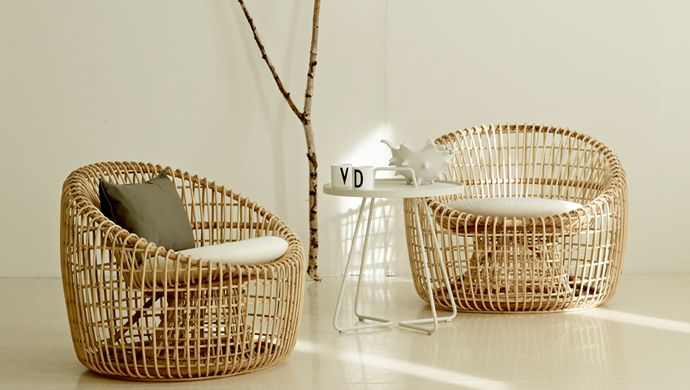 The Nest lounge chair is lightweight with an elegant transparent look. Fits the modern and nordic inspired home.  Made from natural rattan.  Designed by Foersome & Hiort-Lorenzen MDD http://www.wgu.com.au/product/nest-lounge-chair/ #furniture #chair #home #homedesign #interior